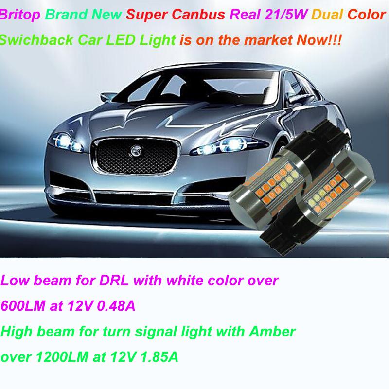 Britop built-in Canbus dual color reale 21 / 5w DRL + Indicatore di direzione a led di luce messo sul mercato ora !!!