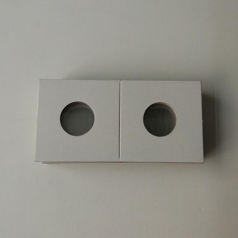 Flip di titolari di monete di carta cartone 2X2