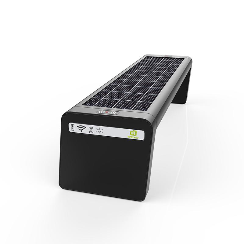 Solar Smart Bench Cavalletto bici opzionale e schermo a LED sul retro