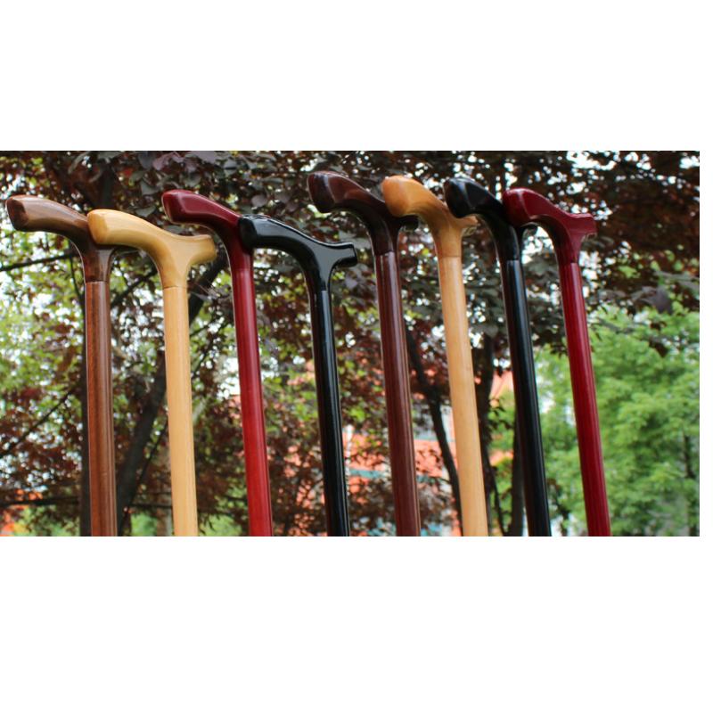 Bastone da passeggio in legno fatto a mano per anziani