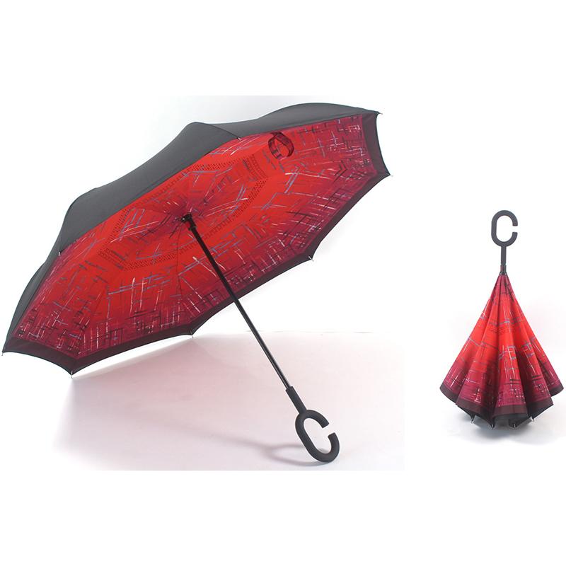 Ombrello dritto da 23 pollici a ombrello con chiusura a rovescio