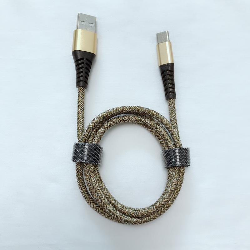 Buon prezzo Nuovo Flex flessione Braided Fast Charging Round Custodia in alluminio Cavo dati USB per micro USB, tipo C, carica e sincronizzazione fulmini per iPhone
