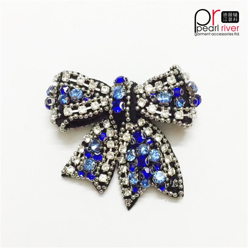 Farfalla di cristallo di patch di bowknot di ultima bellezza di cristallo