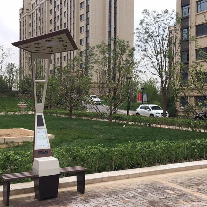 Caricatore mobile per panchina per parchi solari a palo per pubblicità