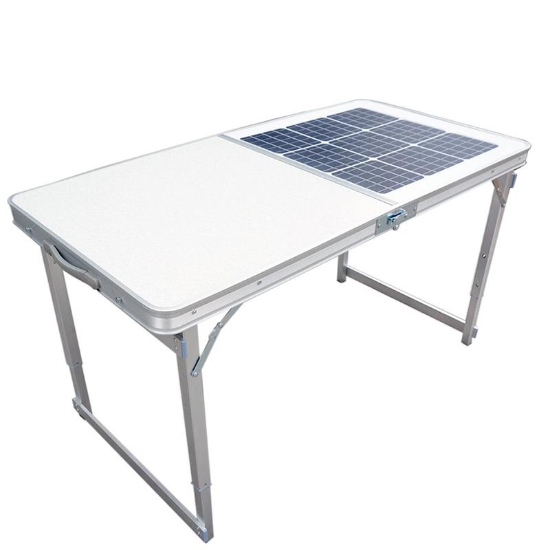 Tavolo solare pieghevole portatile per l'affare di ricarica per tavolo da lavoro pieghevole da cucina per campeggio all'aperto