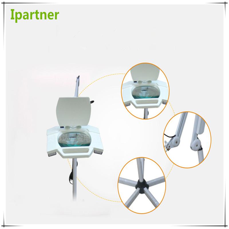 Ipartner Hot selling Lampada d'ingrandimento cosmetica per test cutanei con luce fredda Vetro quadrato