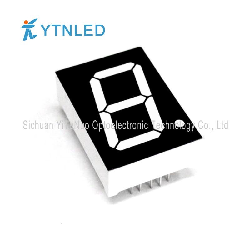 Display a LED a 1 segmento di 1 pollice rosso a 1 cifra, tubo digitale