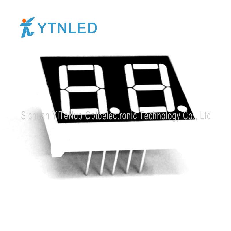 Display a LED a 7 segmenti rosso a 2 cifre da 0,56 pollici, tubo digitale