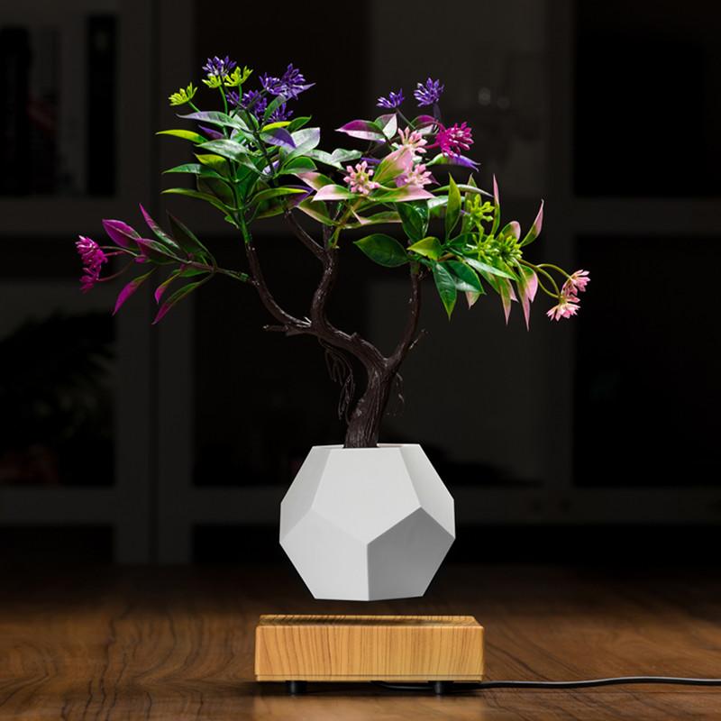 NUOVO vaso da fiori bonsai galleggiante in legno levitante magnetico PA-0708