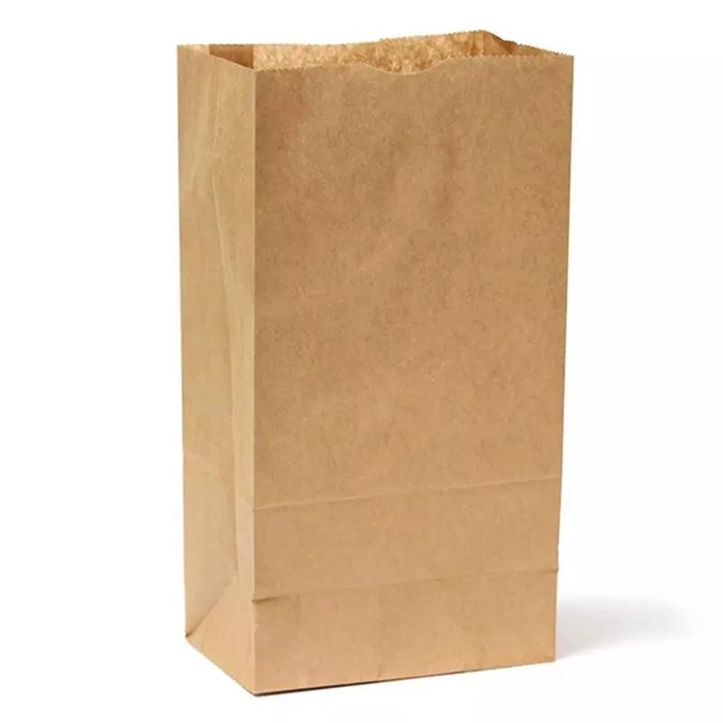 sacchetto di carta sacchetto di carta alimentare marrone riciclato di lusso shopping bag supermercato carta