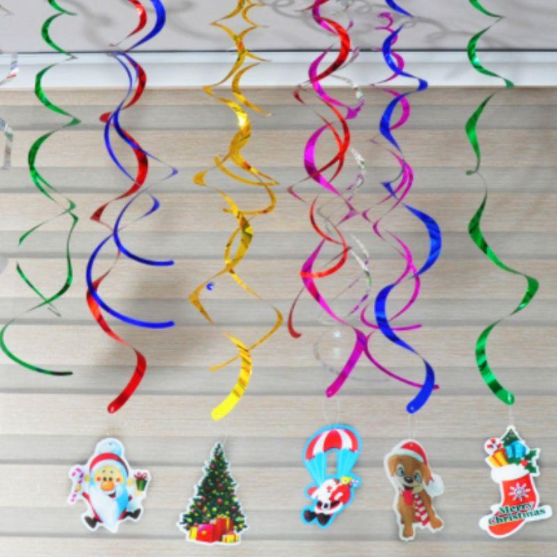 Decorazioni per party Club Decorazioni a sospensione a soffitto in lamina d'oro