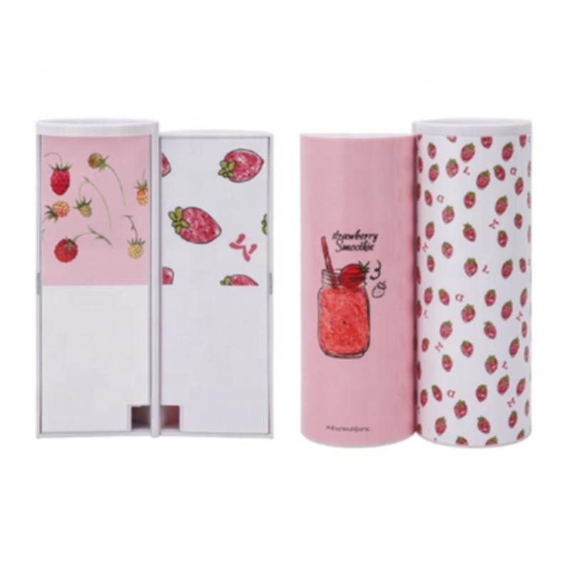 Caso per penna a sfera a doppio strato di colore rosa con scatola a matita Kawaii per ragazze