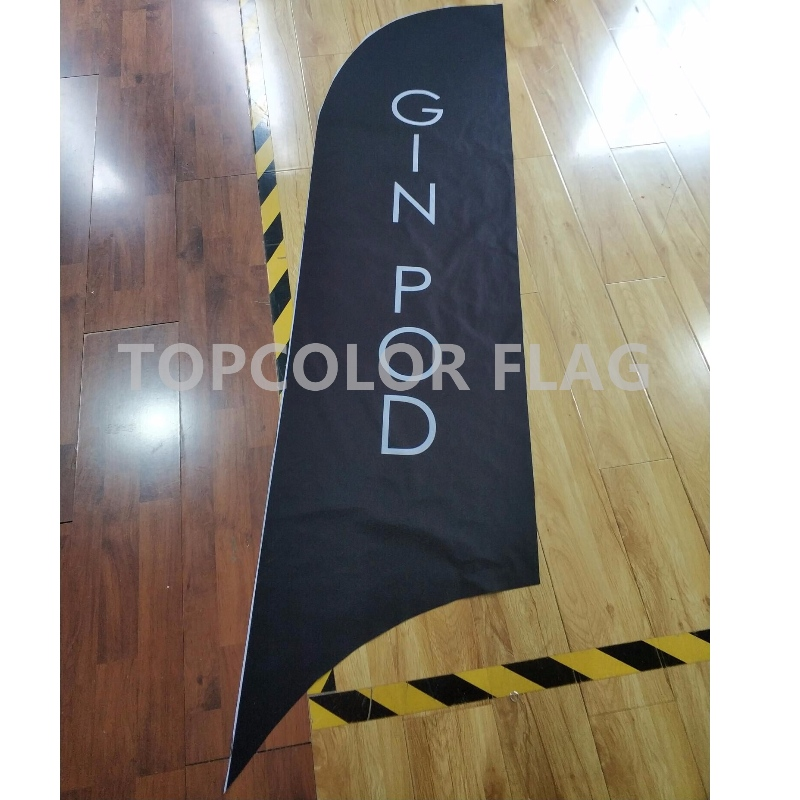 Pubblicità bandiera piuma all'aperto