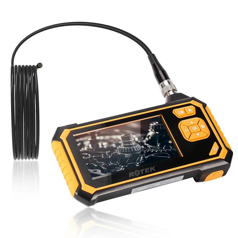 Endoscopio digitale 1080P HD Schermo LCD a colori da 4,3 pollici Boroscopio Cannocchiale a distanza Lente di ispezione a distanza Telecamera IP67 Endoscopio digitale