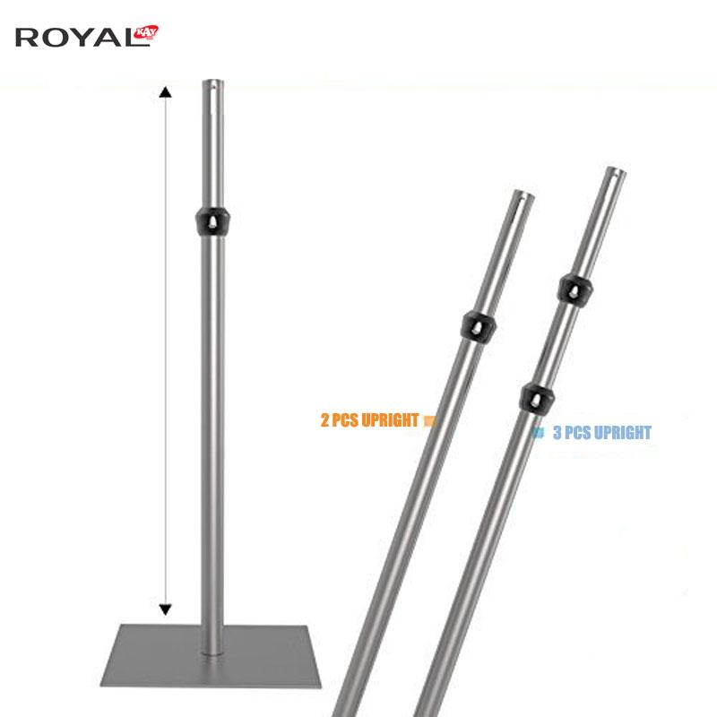 Tubo e drappo regolabili in posizione verticale 5ft-8ft