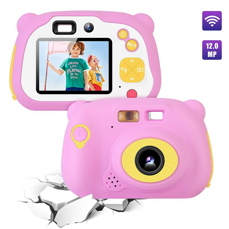 Videocamera per bambini 8.0MP Videocamera digitale ricaricabile anteriore e posteriore per selfie Videocamera per bambini, giocattoli regalo per ragazzi e ragazze di 4-10 anni