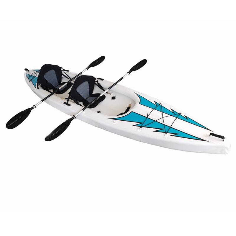 Kayak gonfiabile con doppia seduta di materiale punto goccia