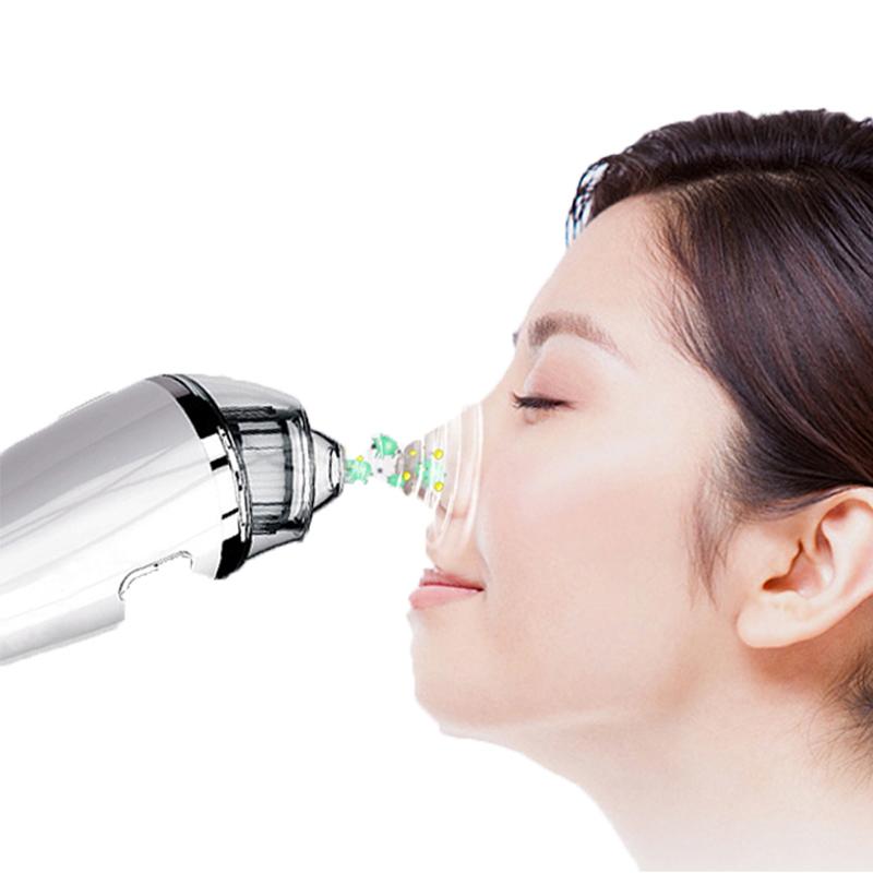 Blackhead Remover Vacuum - Strumento di estrazione dell'acne Comedo per aspirazione facciale elettrico per pulizia dei pori per donne e uomini