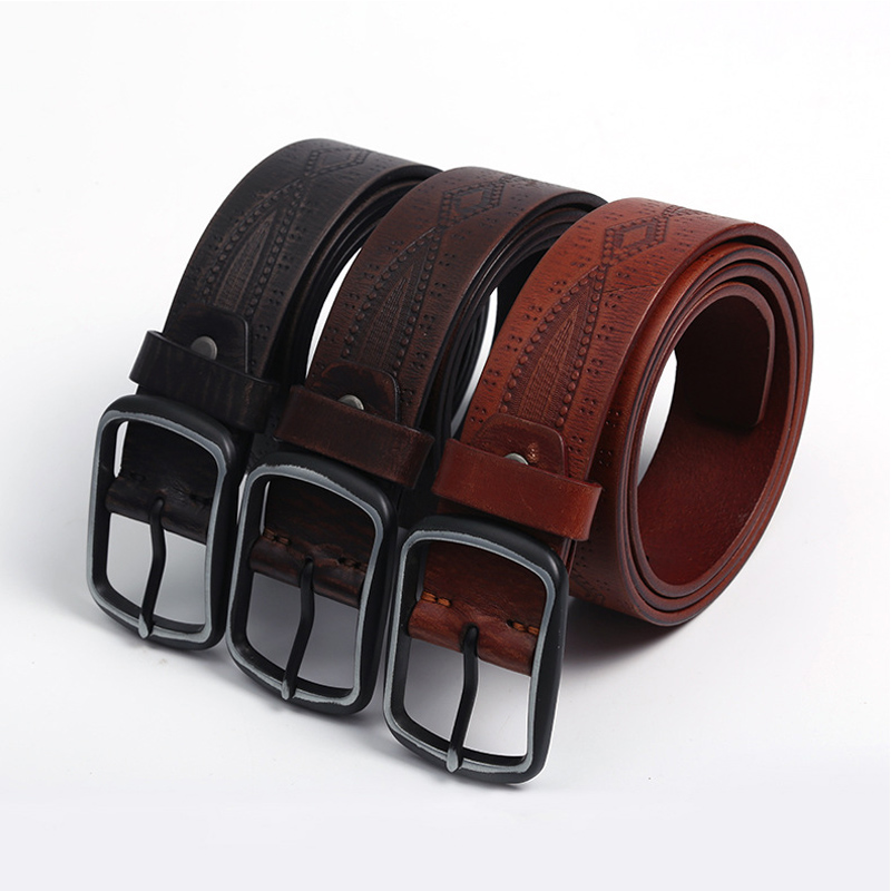 HD0827 - Cintura personalizzabile in pelle gneuine per uomo di fascia alta