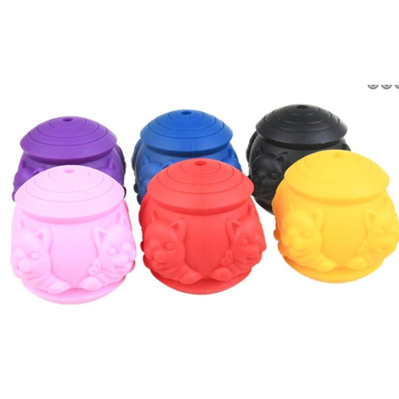 Giocattoli per animali domestici in silicone cane molare giocattolo per animali domestici che perde palla morso in silicone Giocattolo