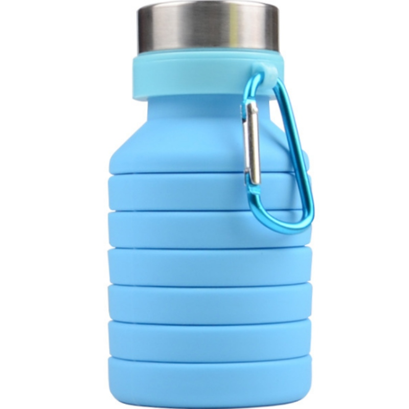 Tazza telescopica in silicone moda bollitore sportivo in silicone tazza telescopica in silicone creativo può essere personalizzata logo