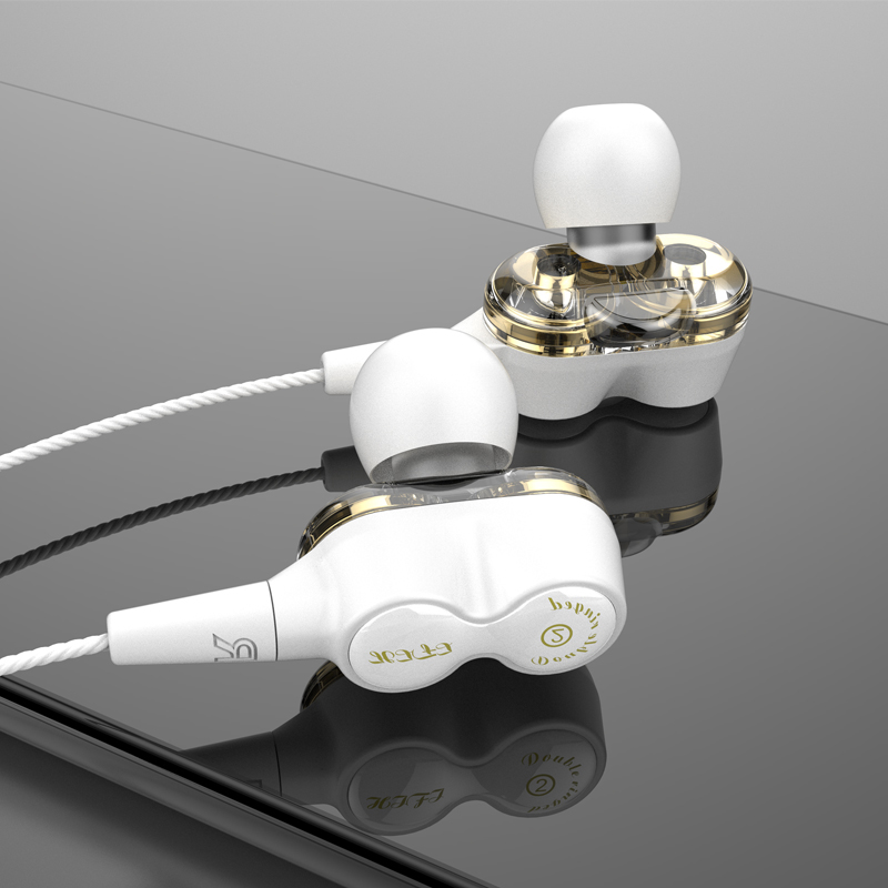 2019 Nuovo auricolare stereo Hi-Fi intra-auricolare stereo Hi-Fi per bassi profondi Dual Driver OE18