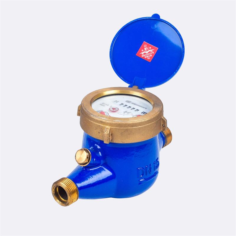 Contatore per acqua regolabile esterno a getto multiplo a secco
