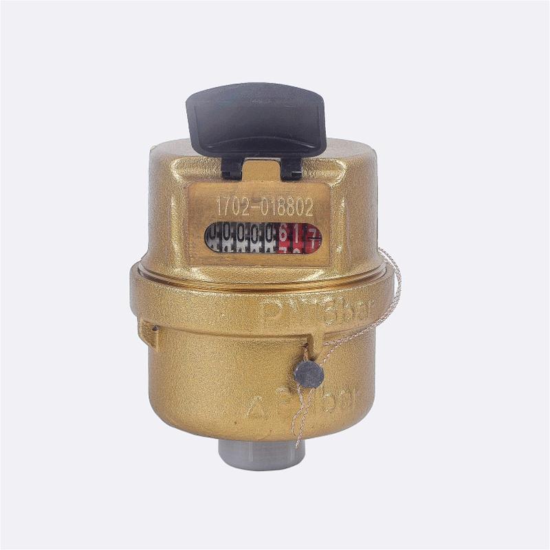 Contatore per acqua volumetrico a pistone rotante