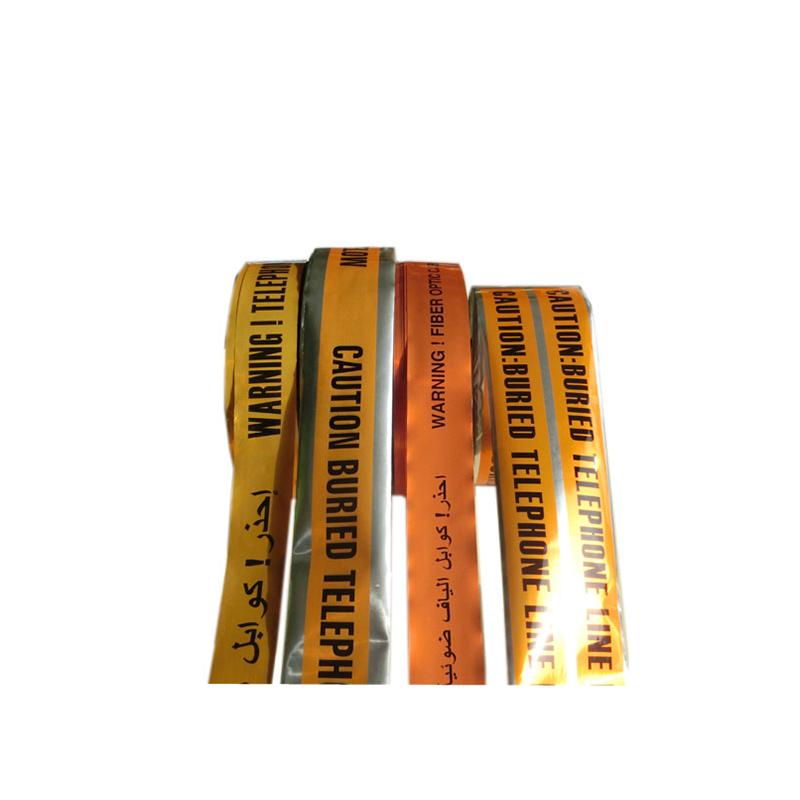 Produttore di alta qualità per nastro barricato PVC di alta qualità per cavo sotterraneo rilevabile per avvertimento nastro in alluminio