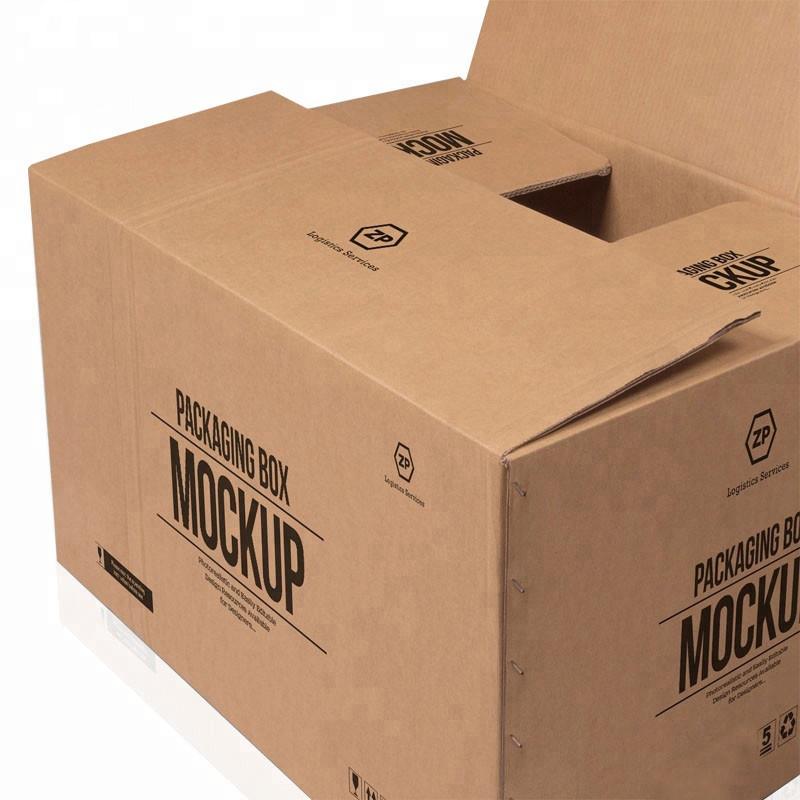 Contenitore di cartone grande di vendita caldo personalizzato di 5 strati di marca stampato in carta kraft consegna di cartone grande