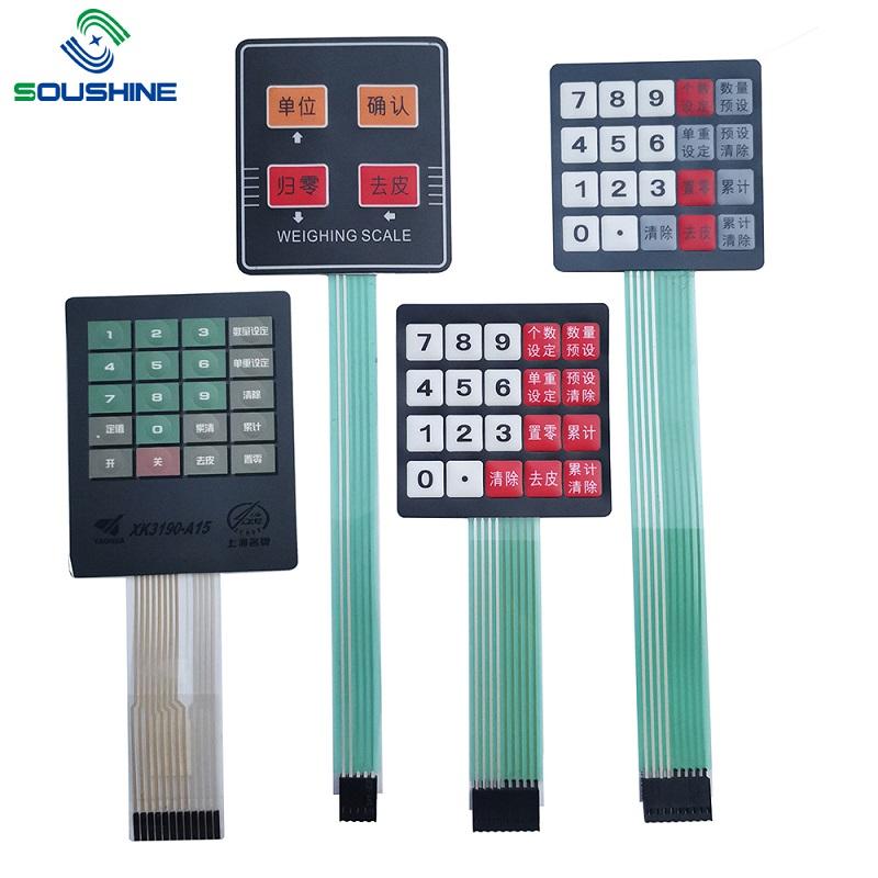 Commutatore di membrana / tastiera della bilancia