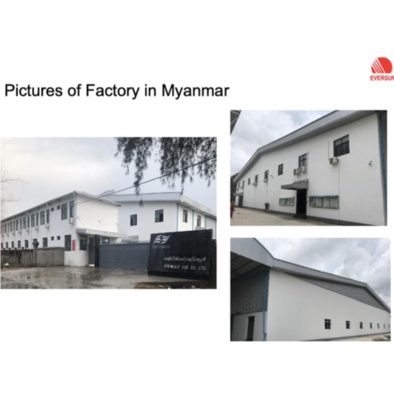 Fabbrica Myanmar interamente posseduta
