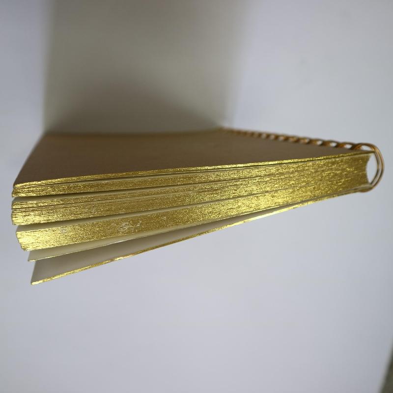 Taccuino per rilegatura a spirale in oro stile retrò
