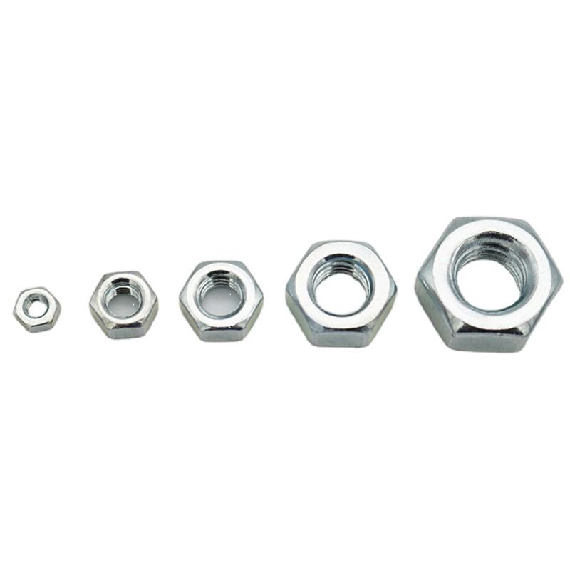 Dado esagonale zincato OEM di alta qualità in acciaio al carbonio ODM