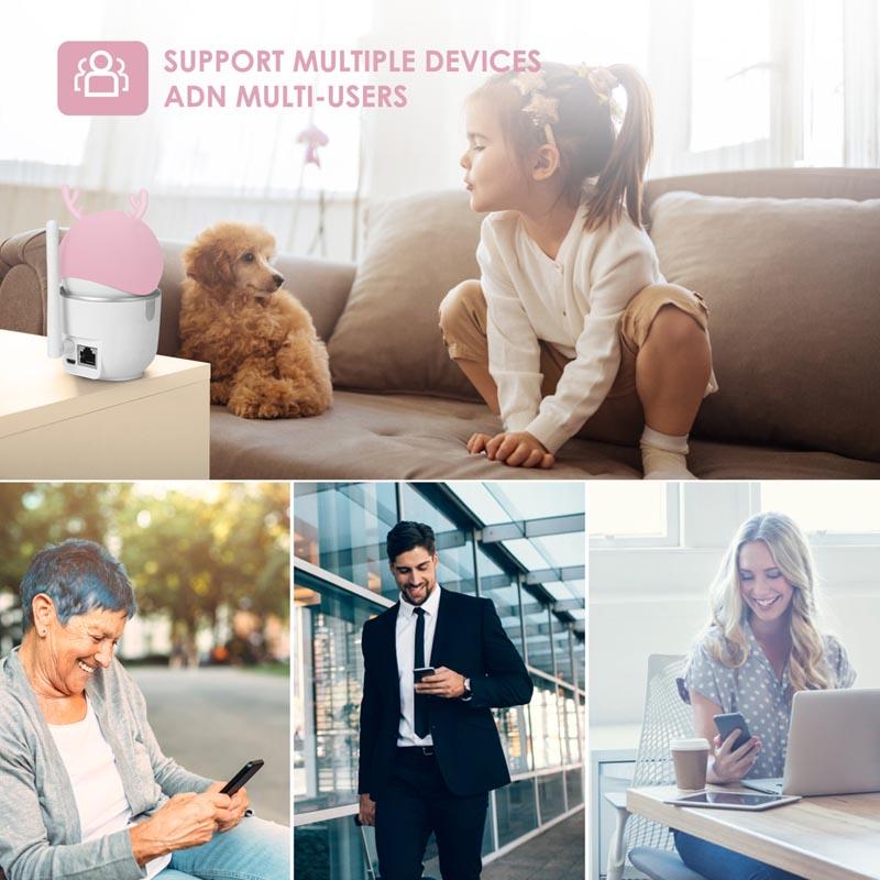 2MP 1080P HD Smart Home AI Wireless Pan Tilt IP Camera
